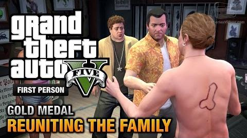 GTA 5 - Mission 62 - Reuniting the Family First Person Gold Medal Guide - PS4