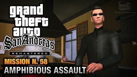 GTA San Andreas Remastered - Mission 58 - Amphibious Assault (Xbox 360 PS3)