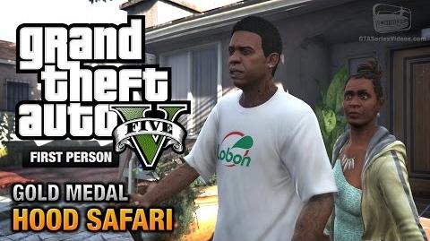 GTA 5 - Mission 27 - Hood Safari First Person Gold Medal Guide - PS4