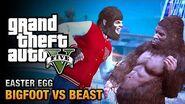 GTA 5 Easter Egg - The Bigfoot vs