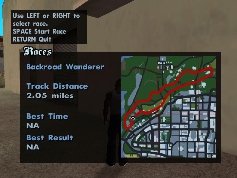 Race Tournaments in GTA San Andreas
