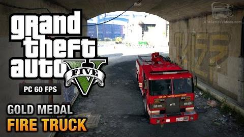 GTA 5 PC - Mission 65 - Fire Truck Gold Medal Guide - 1080p 60fps