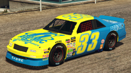 HotringSabre-GTAO-Liveries-33-AtomicTires-Yellow-FrontQuarter