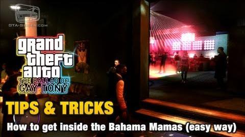 GTA The Ballad of Gay Tony - Tips & Tricks - How to get inside the Bahama Mamas (easy way)