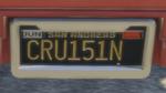 Custom Plate GTAO CRU151N