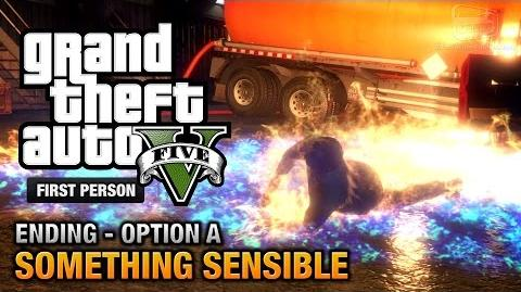 GTA 5 - Final Mission Ending A - Something Sensible (Trevor) First Person Gold Guide - PS4