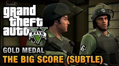 GTA 5 - Mission 75 - The Big Score (Subtle Approach) 100% Gold Medal Walkthrough