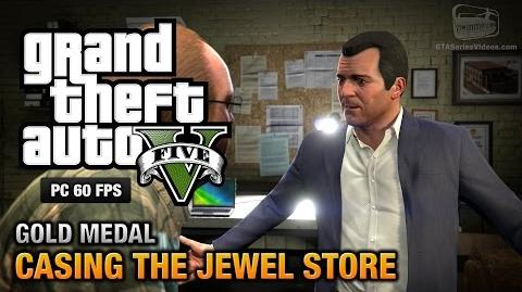 GTA 5 PC - Mission 11 - Casing the Jewel Store Gold Medal Guide - 1080p 60fps