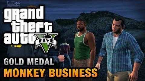 GTA 5 - Mission 54 - Monkey Business 100% Gold Medal Walkthrough