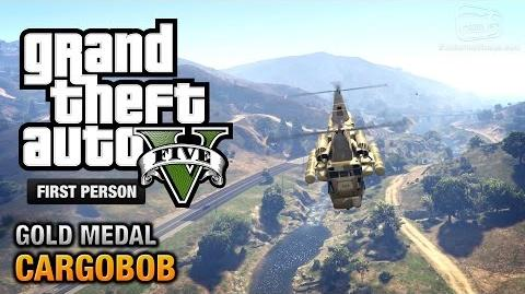 GTA 5 - Mission 31 - Cargobob First Person Gold Medal Guide - PS4