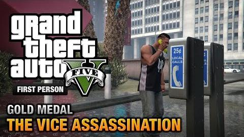 GTA 5 - Mission 42 - The Vice Assassination First Person Gold Medal Guide - PS4
