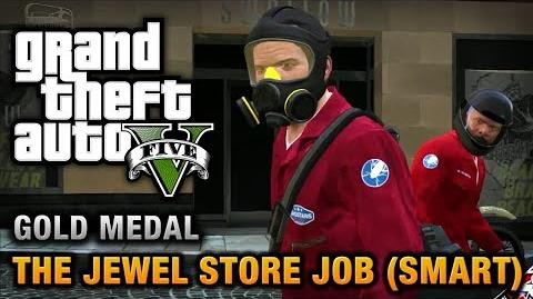 GTA 5 - Mission 16 - The Jewel Store Job (Smart Approach) 100% Gold Medal Walkthrough