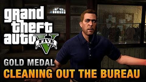 GTA 5 - Mission 61 - Cleaning out the Bureau 100% Gold Medal Walkthrough