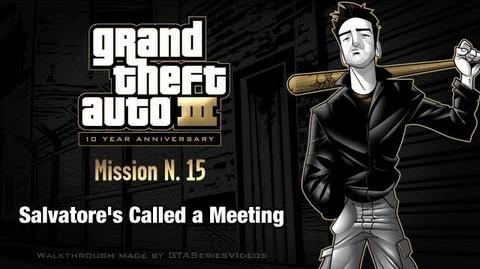 GTA 3 - iPad Walkthrough - Mission 15 - Salvatore's Called a Meeting
