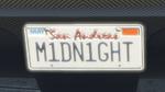 Custom Plate GTAO M1DN1GHT
