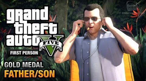 GTA 5 - Mission 4 - Father Son First Person Gold Medal Guide - PS4