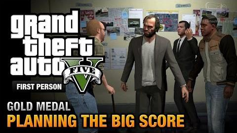 GTA 5 - Mission 76 - Planning the Big Score (Obvious) First Person Gold Medal Guide - PS4