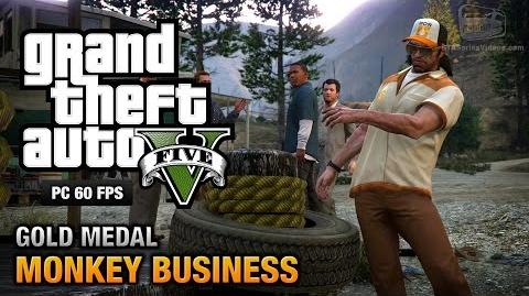 GTA 5 PC - Mission 54 - Monkey Business Gold Medal Guide - 1080p 60fps