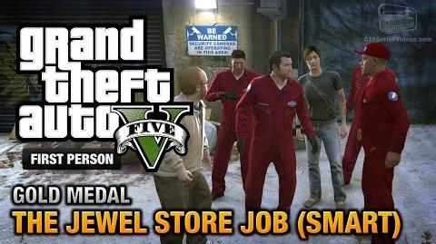 GTA 5 - Mission 16 - The Jewel Store Job (Smart Approach) First Person Gold Medal Guide - PS4