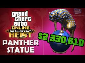 GTA Online- The Cayo Perico Heist - Panther Statue -$2,330,610 Reward - Solo-