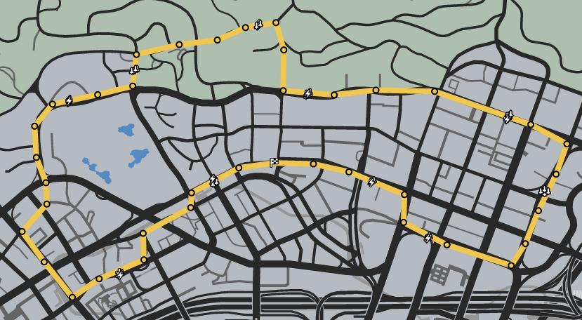 Vinewood Tours GTAO Race Map.png