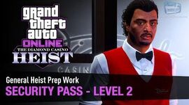 GTA Online The Diamond Casino Heist - Heist Prep Security Pass Solo (Valet)