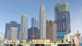 """270?cb=20140318194037 - """"Developed by series creator Rockstar North, Grand Theft Auto V heads to the city of Los Santos and its surrounding hills, countryside and beaches in the largest and most ambitious game Rockstar has yet created."""" ―Rockstar Games - Free Game Hacks"""
