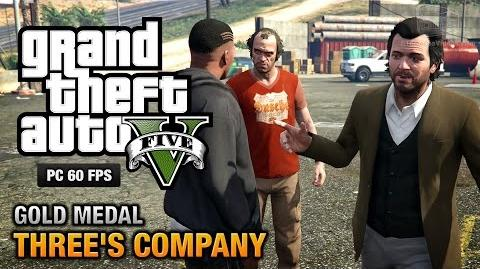 GTA 5 PC - Mission 24 - Three's Company Gold Medal Guide - 1080p 60fps