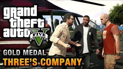 GTA 5 - Mission 24 - Three's Company 100% Gold Medal Walkthrough