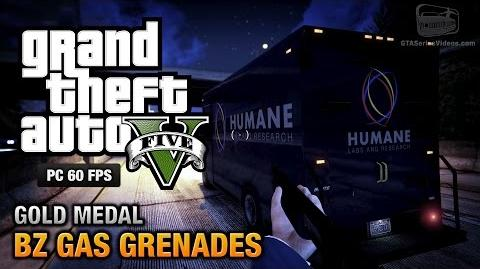 GTA 5 PC - Mission 15 - BZ Gas Grenades Gold Medal Guide - 1080p 60fps