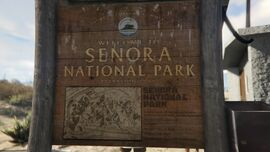 Senora National Park GTAVe Signage