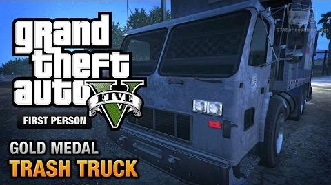 GTA 5 - Mission 37 - Trash Truck First Person Gold Medal Guide - PS4