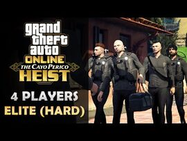 GTA Online- The Cayo Perico Heist Finale in Hard Mode - Elite Challenge -4 Players-