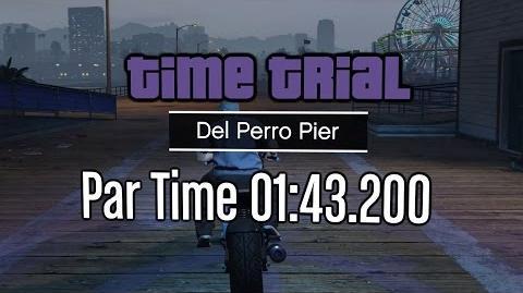 GTA Online Freemode Update - Time Trial - Del Perro Pier (Under Par Time)