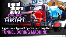 GTA Online The Diamond Casino Heist - Tunnel Boring Machine Aggressive - Solo