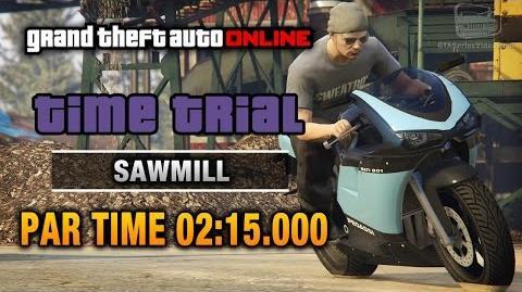 GTA Online - Time Trial 9 - Sawmill (Under Par Time)