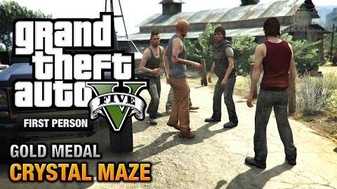 GTA 5 - Mission 20 - Crystal Maze First Person Gold Medal Guide - PS4