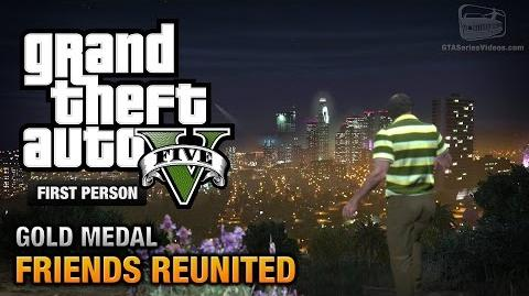 GTA 5 - Mission 21 - Friends Reunited First Person Gold Medal Guide - PS4