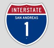 1957 Style Interstate 1 Shield