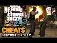 GTA- The Ballad of Gay Tony Cheats