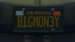 Custom Plate GTAO B1GMON3Y
