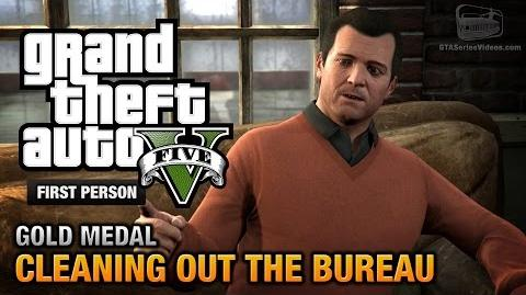 GTA 5 - Mission 61 - Cleaning out the Bureau First Person Gold Medal Guide - PS4
