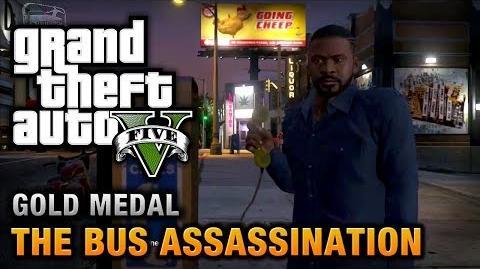 GTA 5 - Mission 43 - The Bus Assassination 100% Gold Medal Walkthrough
