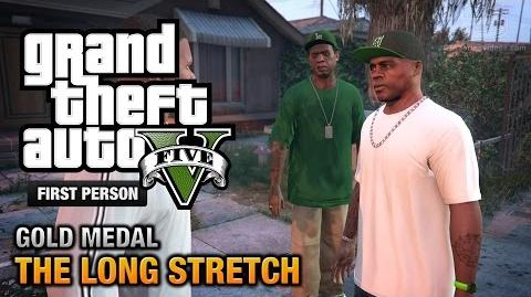 GTA 5 - Mission 9 - The Long Stretch First Person Gold Medal Guide - PS4