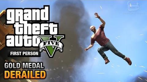 GTA 5 - Mission 53 - Derailed First Person Gold Medal Guide - PS4