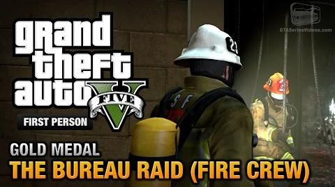 GTA 5 - Mission 67 - The Bureau Raid (Fire Crew) First Person Gold Medal Guide - PS4