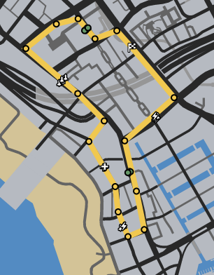 Vespucci Dreams GTAO Race Map.png