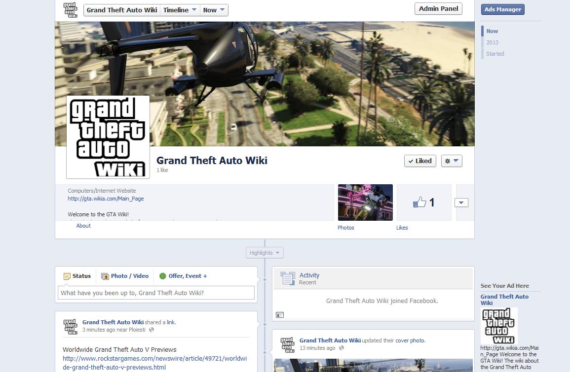 Dodo8/GTA Wiki Facebook Page