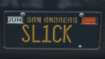 Custom Plate GTAO SL1CK