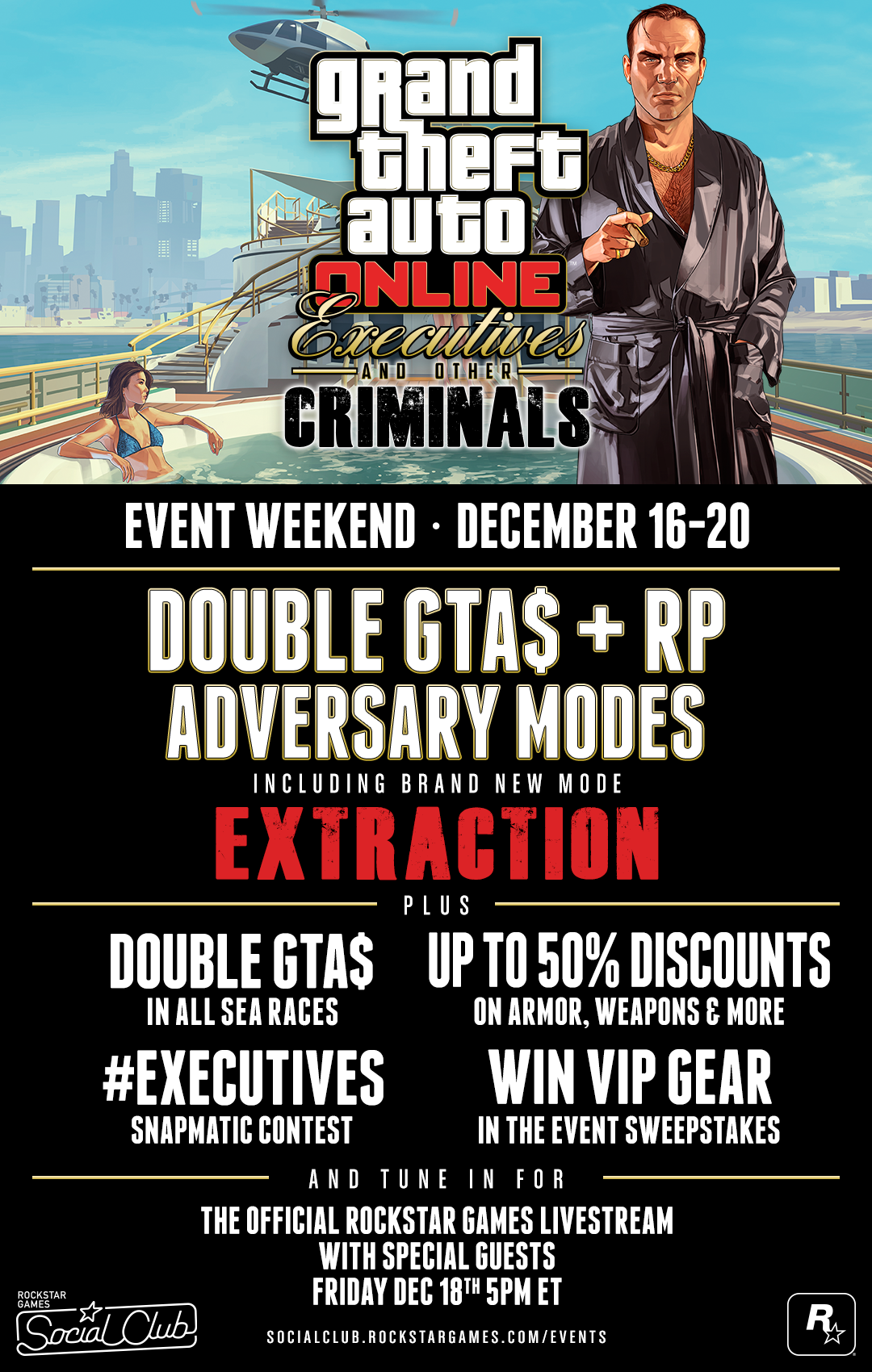 Executives & Other Criminals Event Weekend